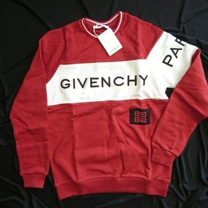 GIVENCHY Men's Sweat Cotton Red White Brand New